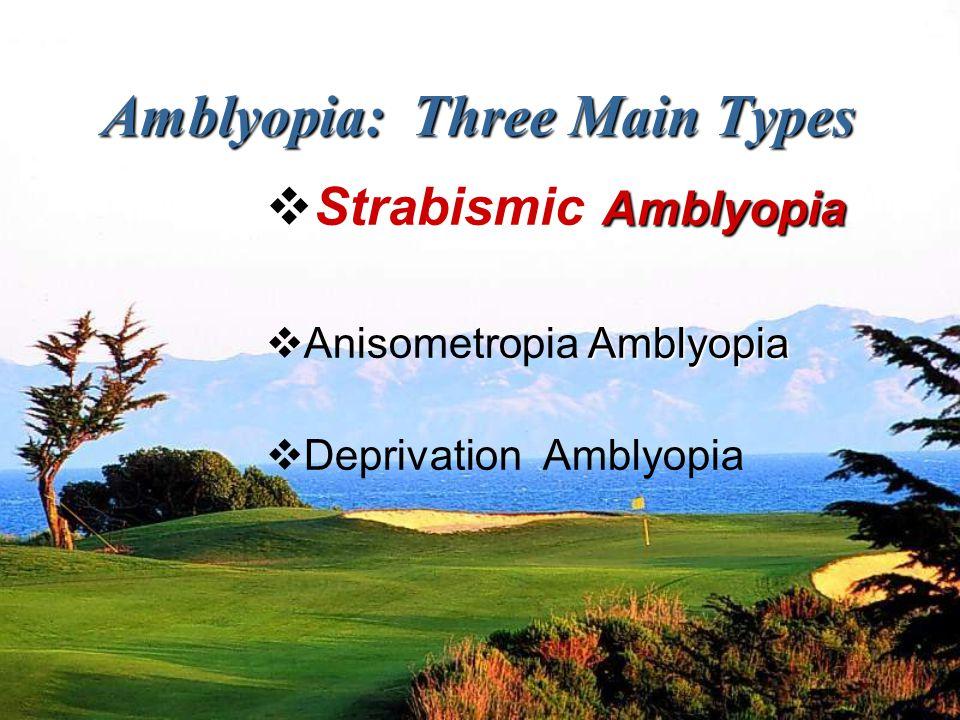 Amblyopia: Three Main Types