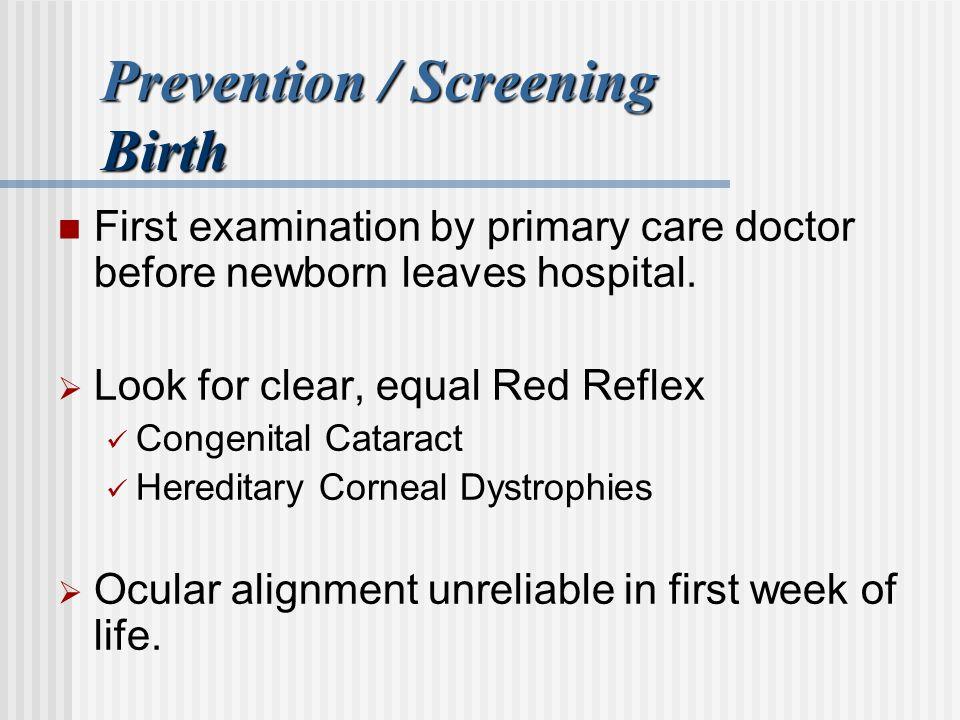 Prevention / Screening Birth