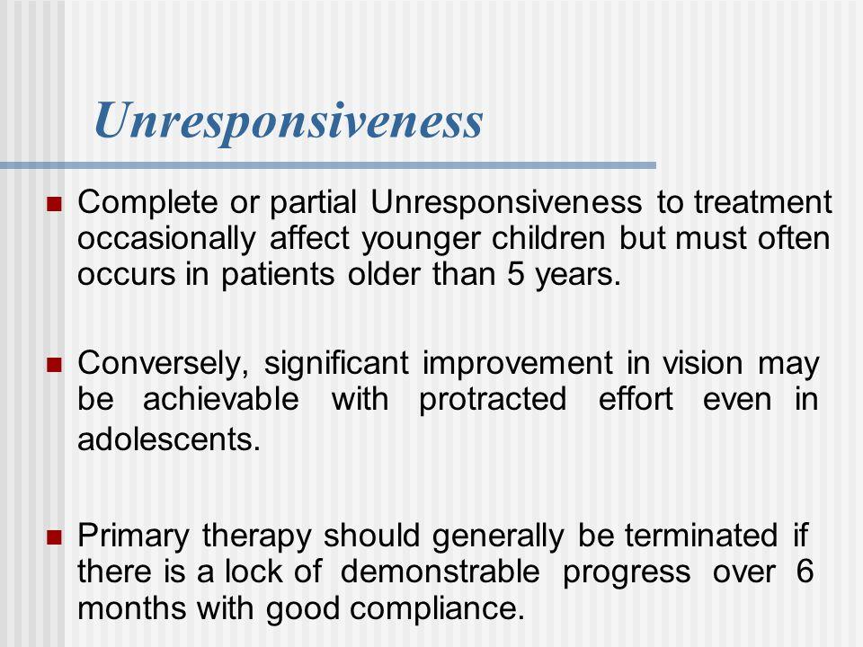 Unresponsiveness