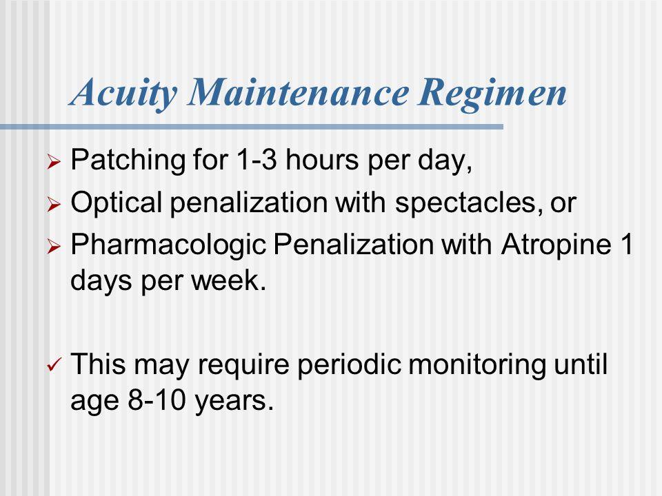 Acuity Maintenance Regimen