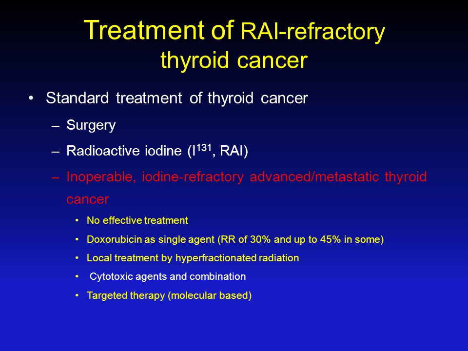 Treatment of RAI-refractory thyroid cancer
