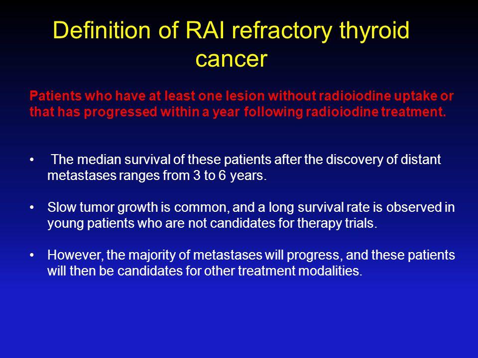 Definition of RAI refractory thyroid cancer