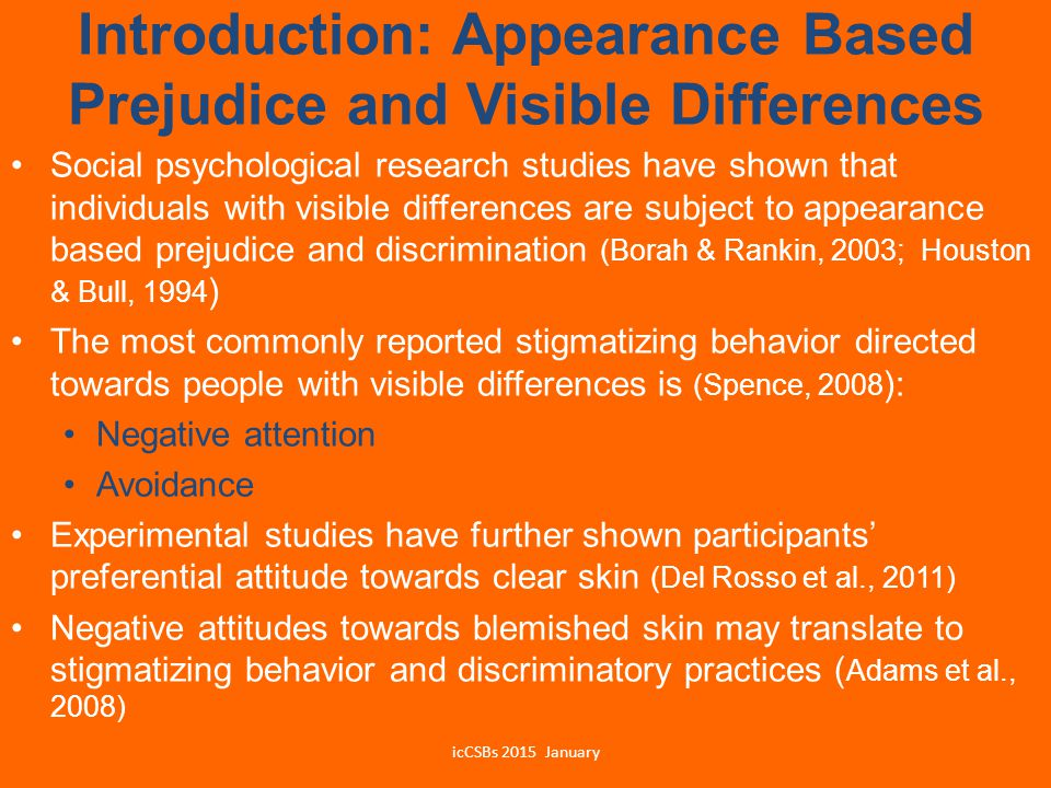 Introduction: Appearance Based Prejudice and Visible Differences