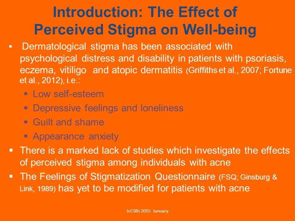 Introduction: The Effect of Perceived Stigma on Well-being