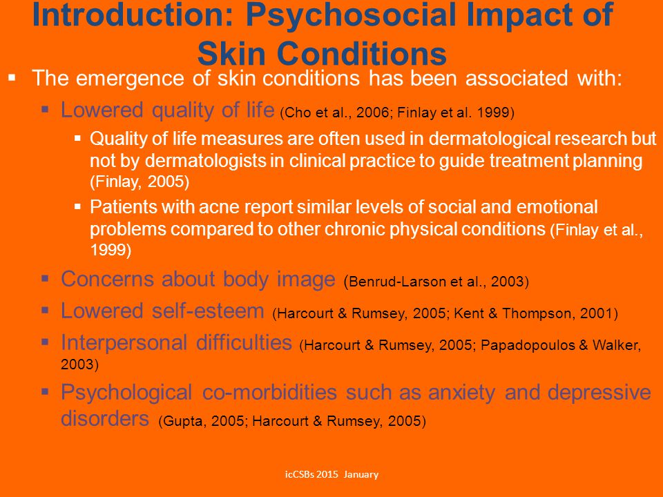 Introduction: Psychosocial Impact of Skin Conditions
