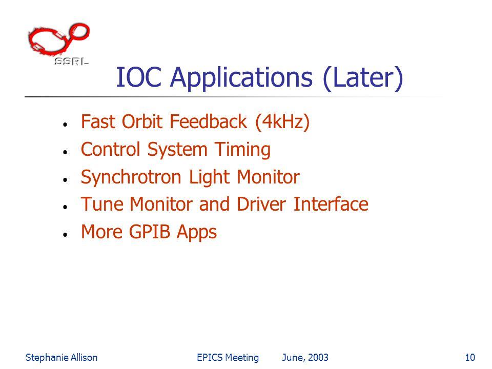 IOC Applications (Later)