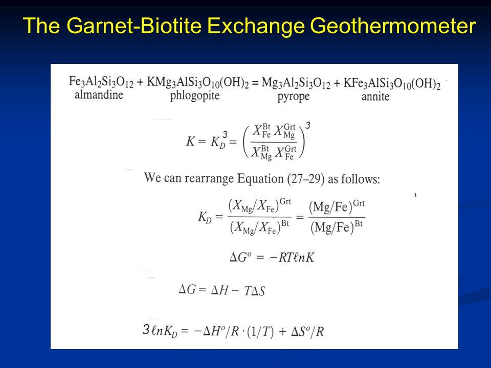The Garnet-Biotite Exchange Geothermometer