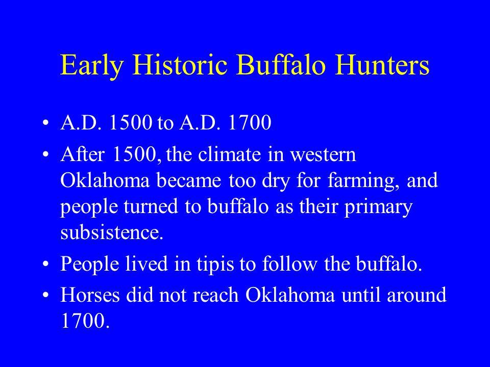 Early Historic Buffalo Hunters