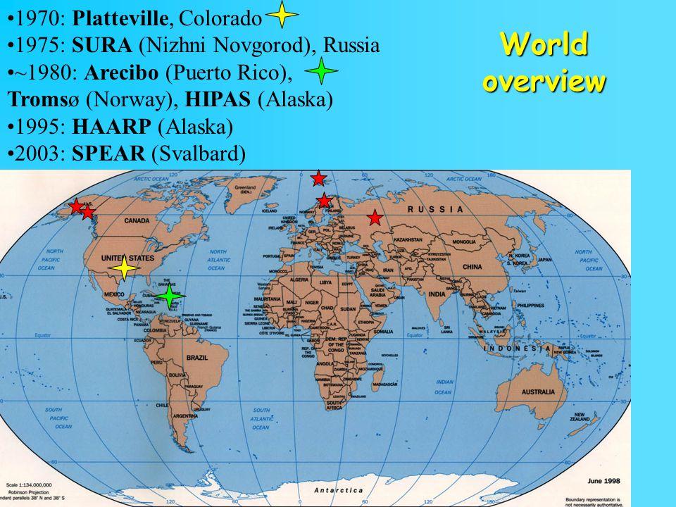 World overview 1970: Platteville, Colorado