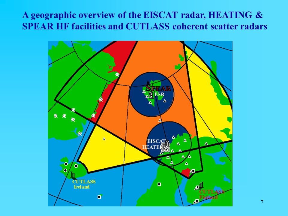 A geographic overview of the EISCAT radar, HEATING & SPEAR HF facilities and CUTLASS coherent scatter radars