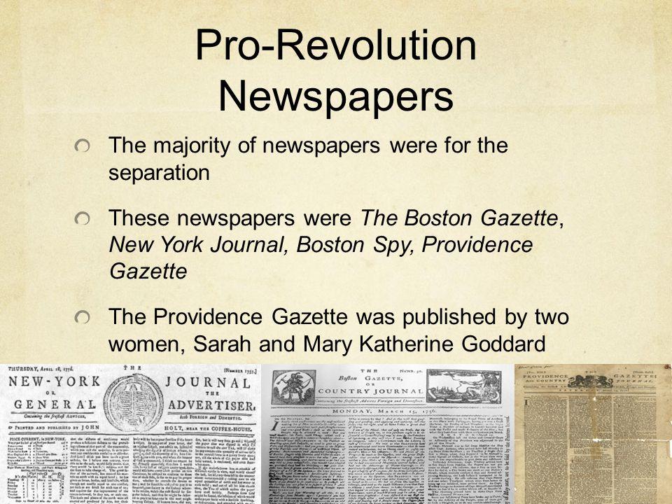 Pro-Revolution Newspapers