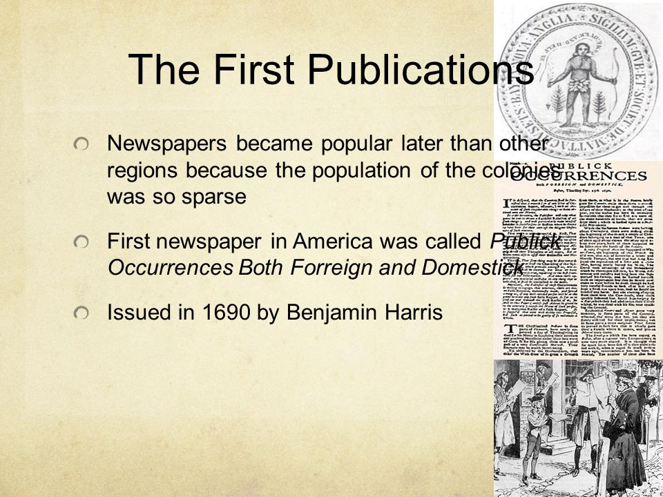 The First Publications