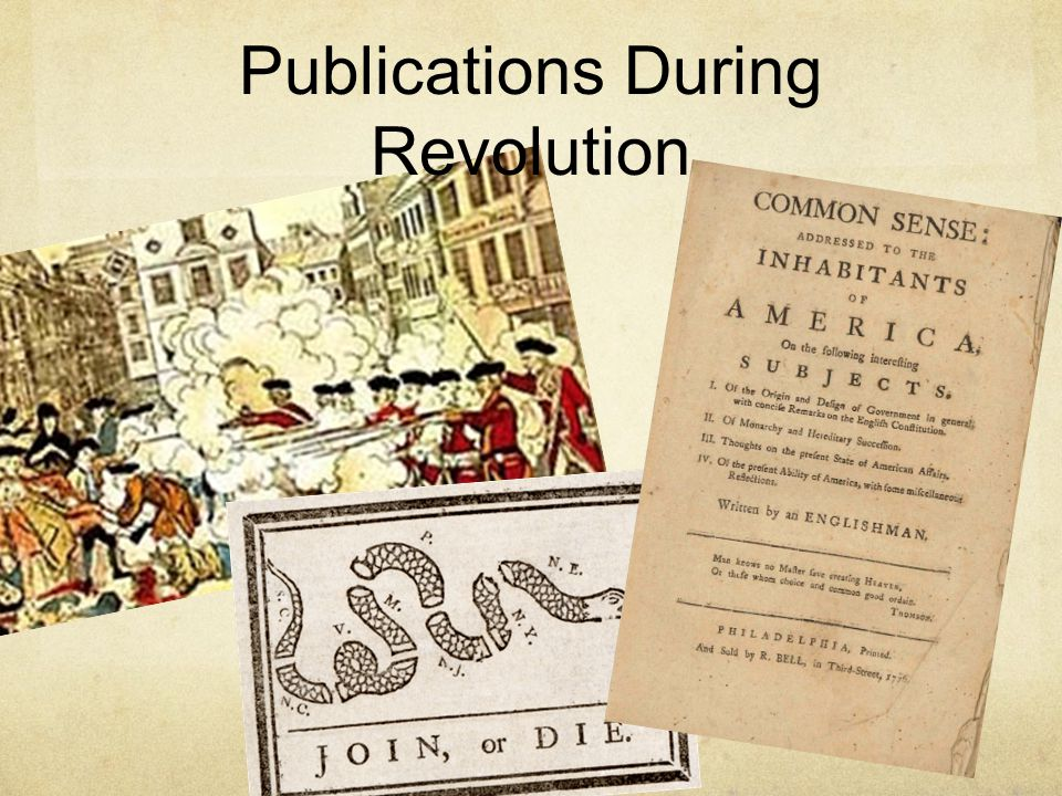 Publications During Revolution