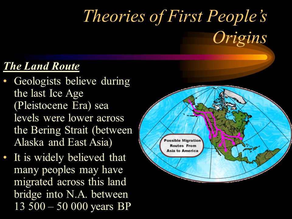 Theories of First People's Origins
