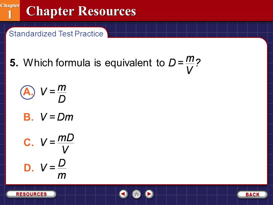5. Which formula is equivalent to
