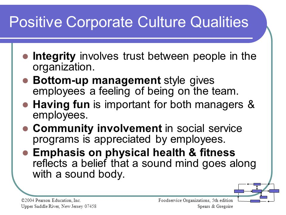 Positive Corporate Culture Qualities