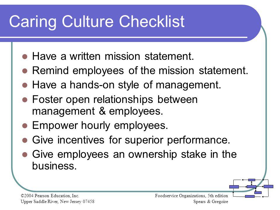 Caring Culture Checklist