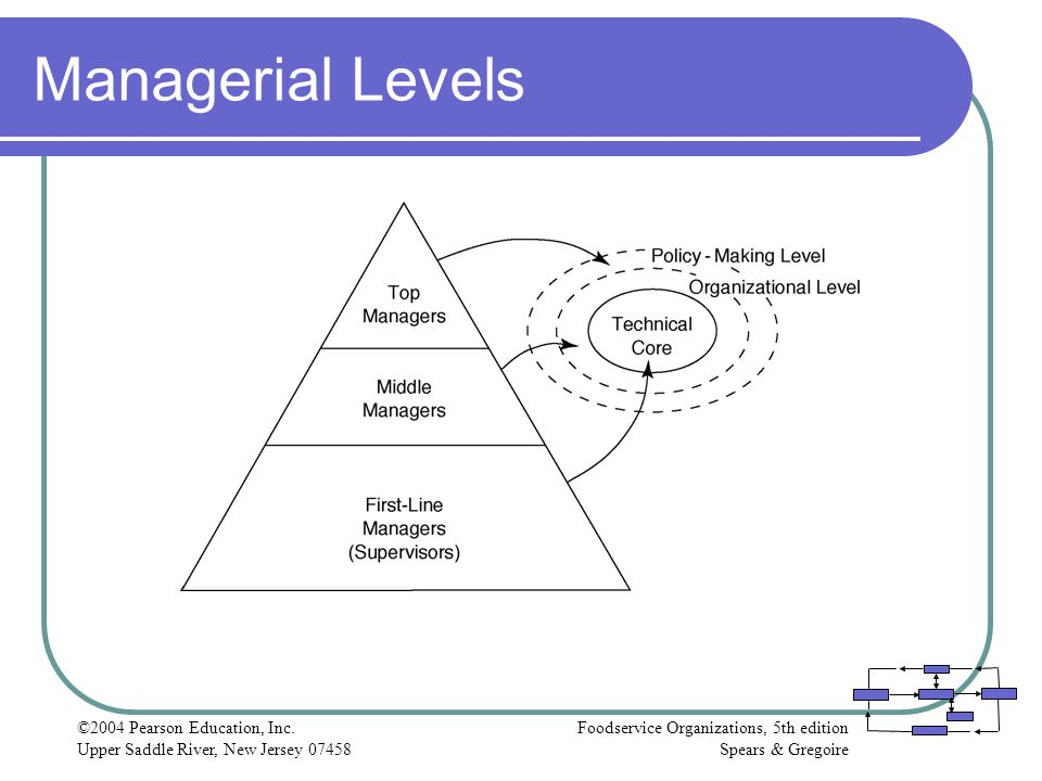 Managerial Levels ©2004 Pearson Education, Inc.