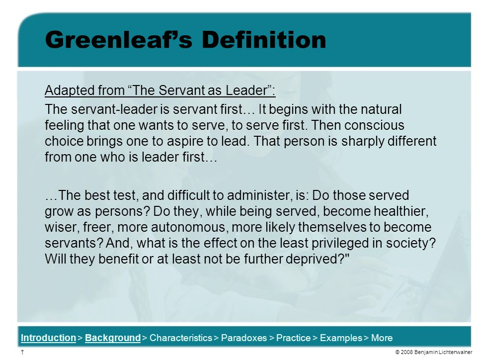Greenleaf's Definition