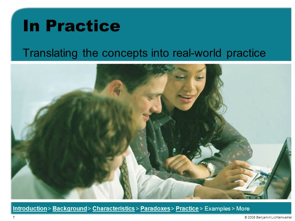 Translating the concepts into real-world practice