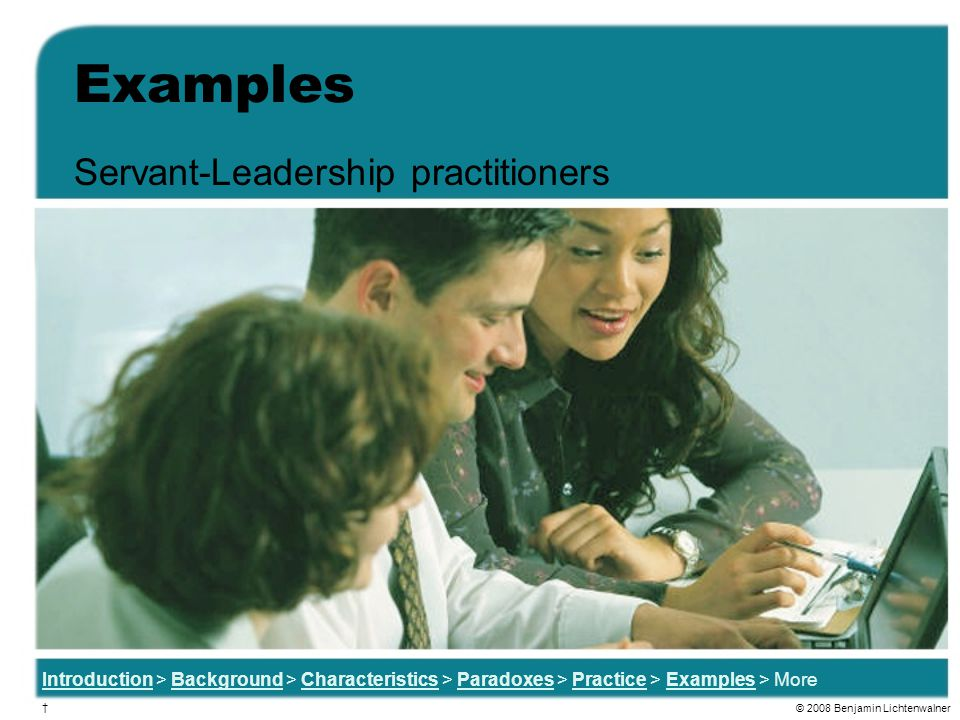 Servant-Leadership practitioners