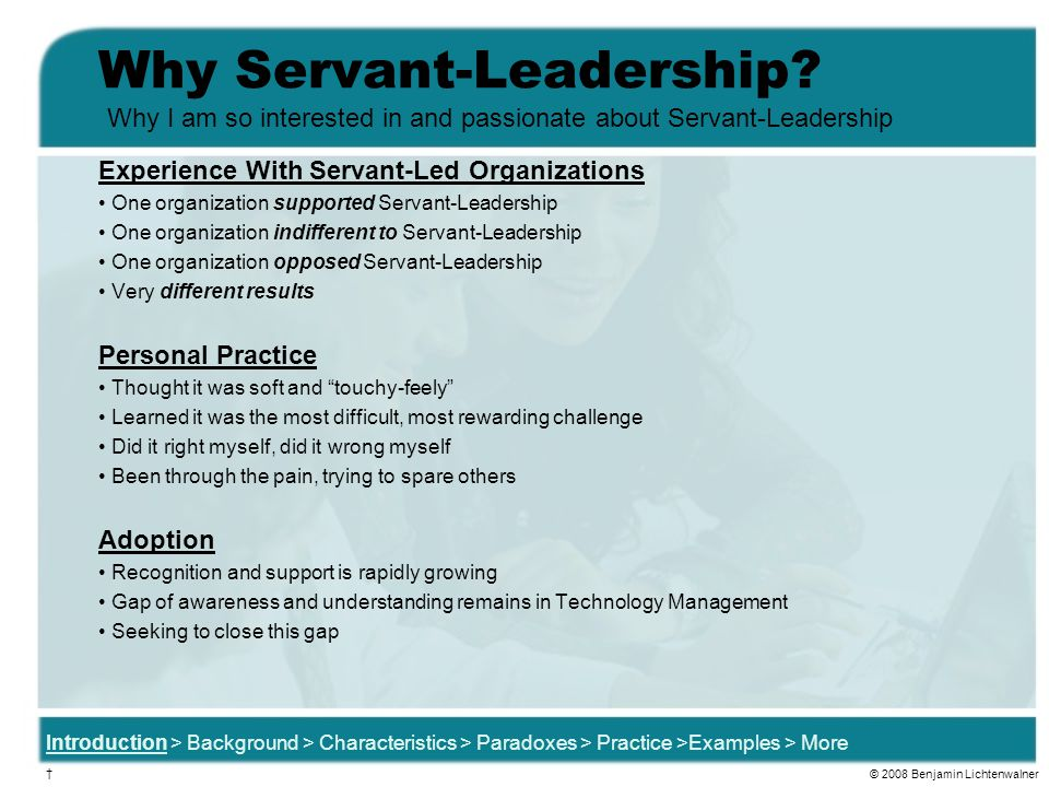 Why Servant-Leadership