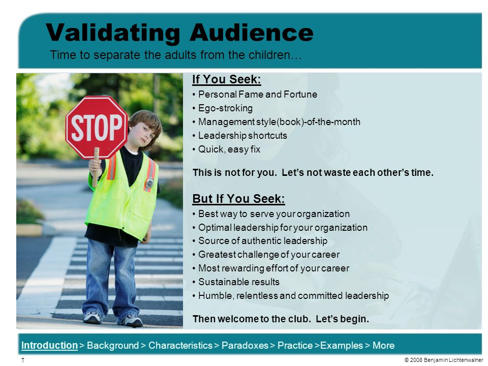 Validating Audience Time to separate the adults from the children…
