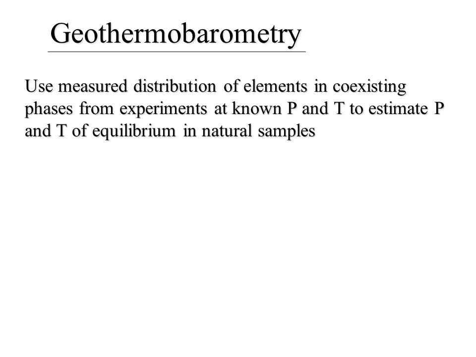 Geothermobarometry
