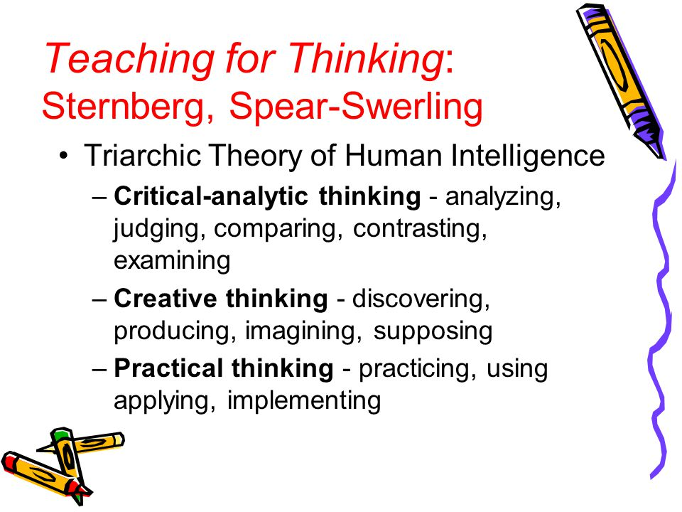 Teaching for Thinking: Sternberg, Spear-Swerling