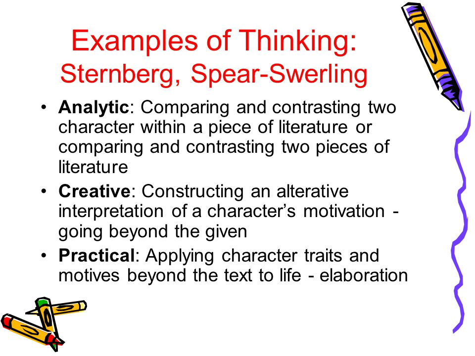 Examples of Thinking: Sternberg, Spear-Swerling