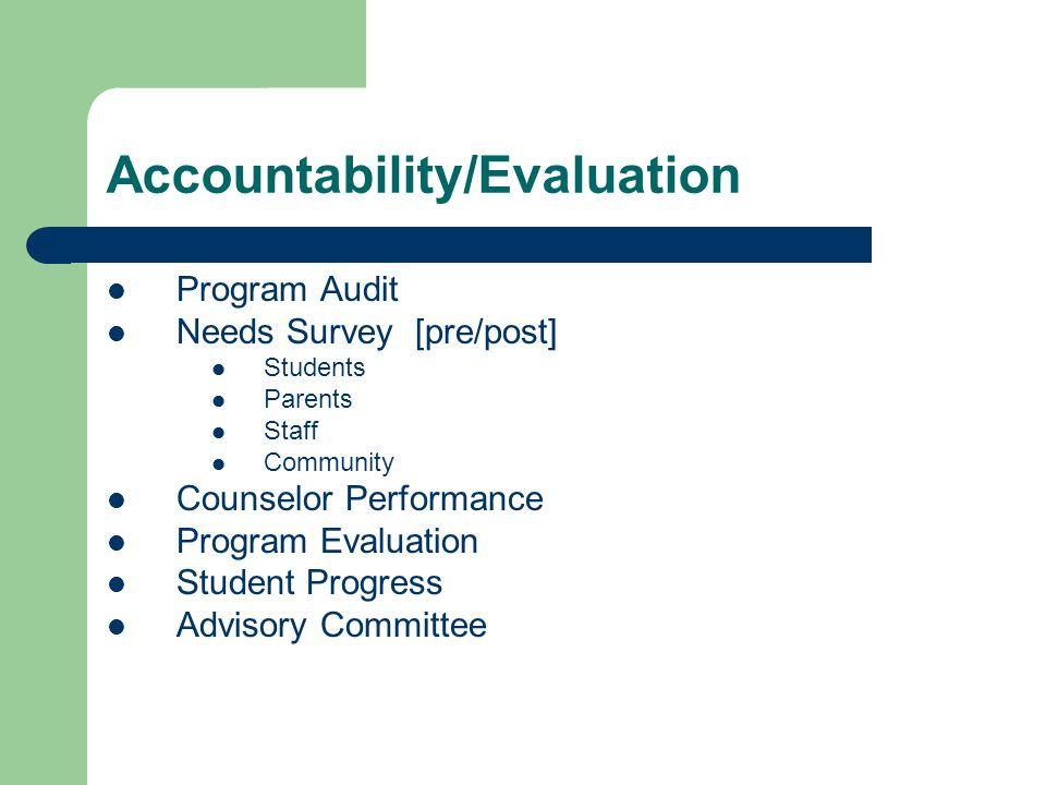Accountability/Evaluation
