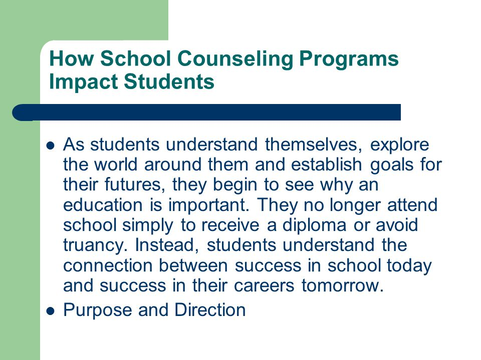 How School Counseling Programs Impact Students