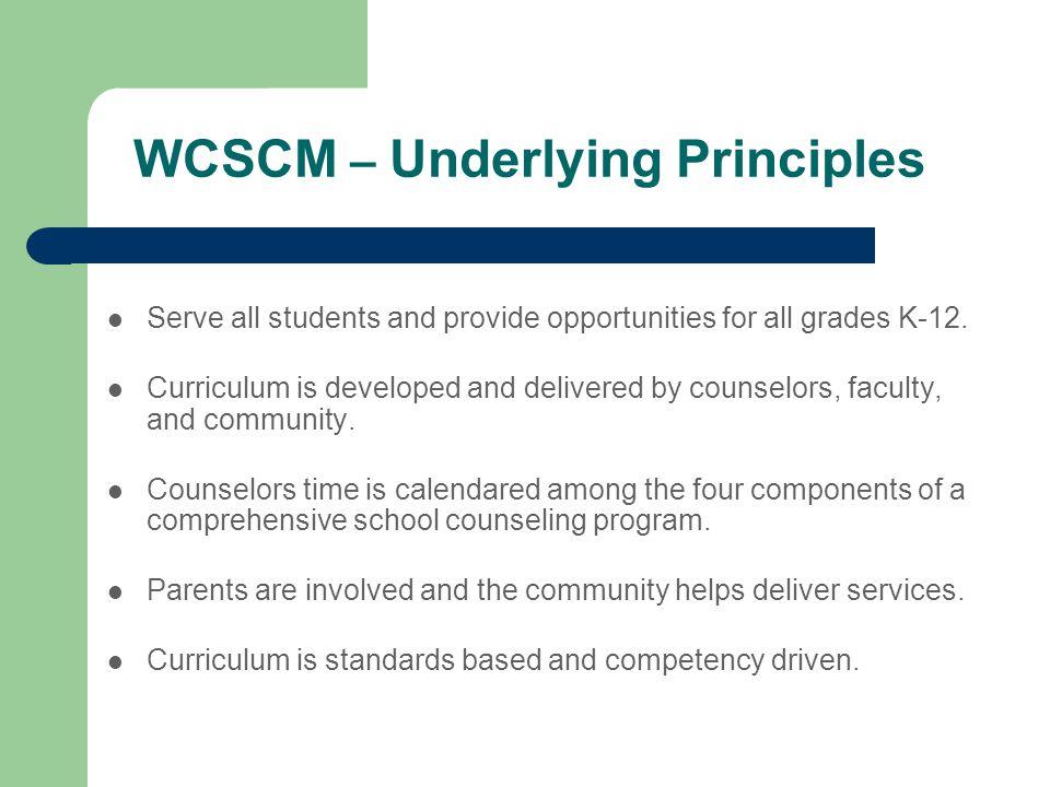 WCSCM – Underlying Principles