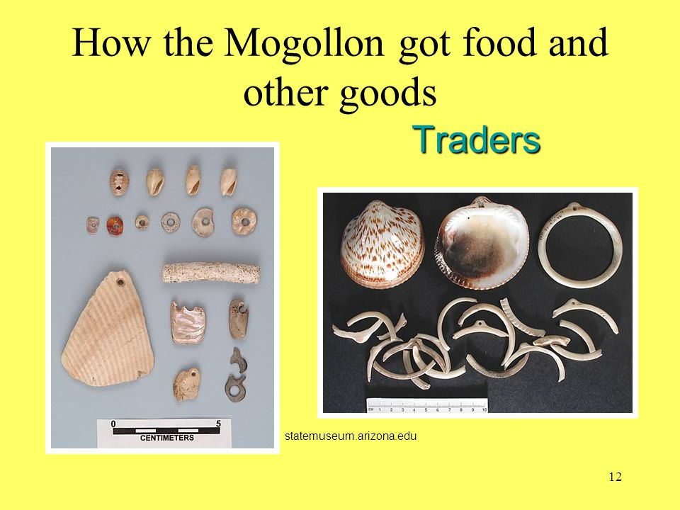 How the Mogollon got food and other goods Traders