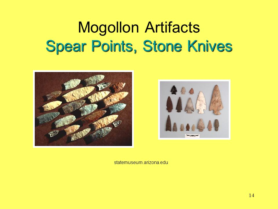 Mogollon Artifacts Spear Points, Stone Knives