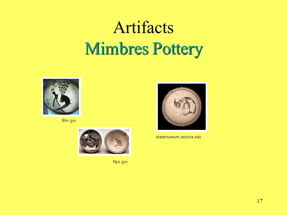 Artifacts Mimbres Pottery