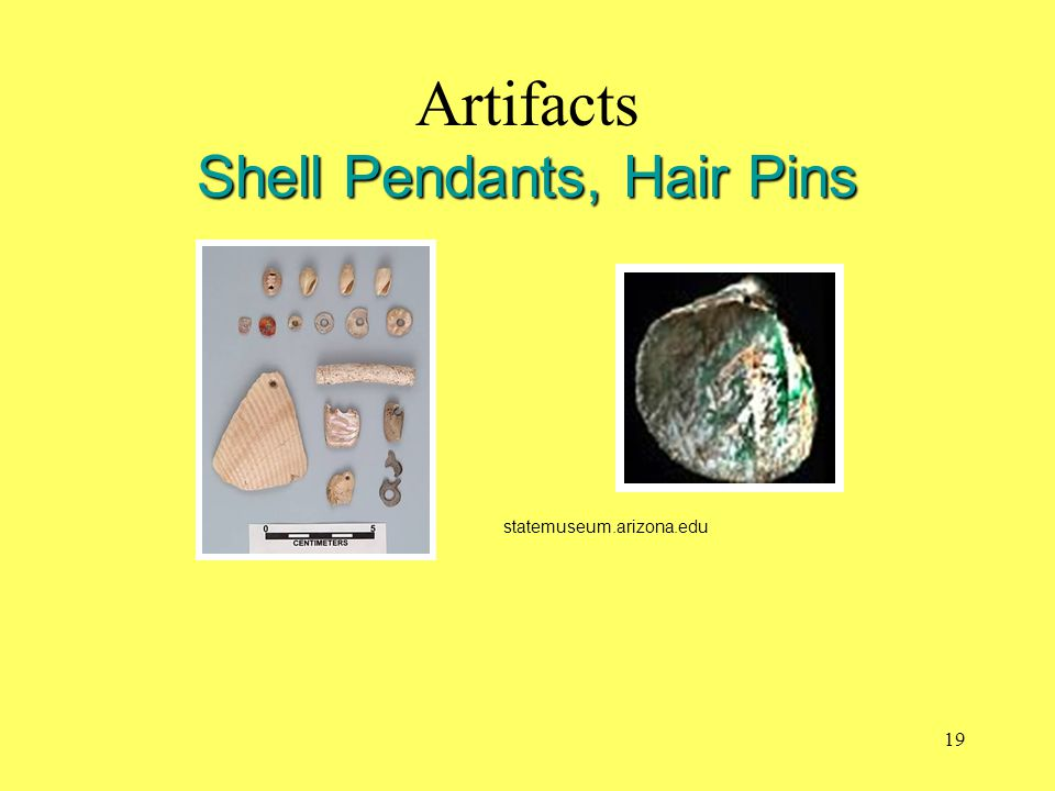 Artifacts Shell Pendants, Hair Pins