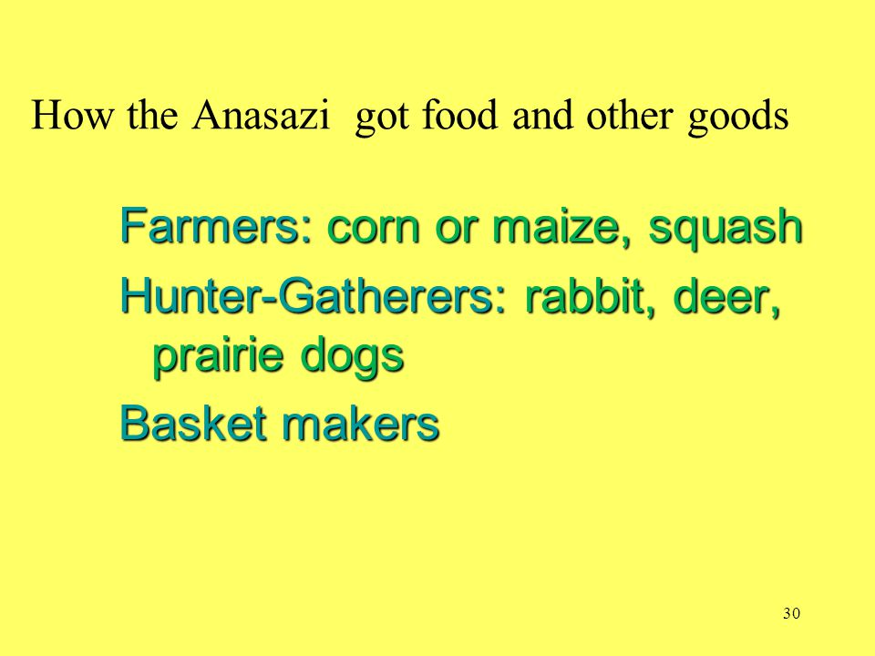 How the Anasazi got food and other goods