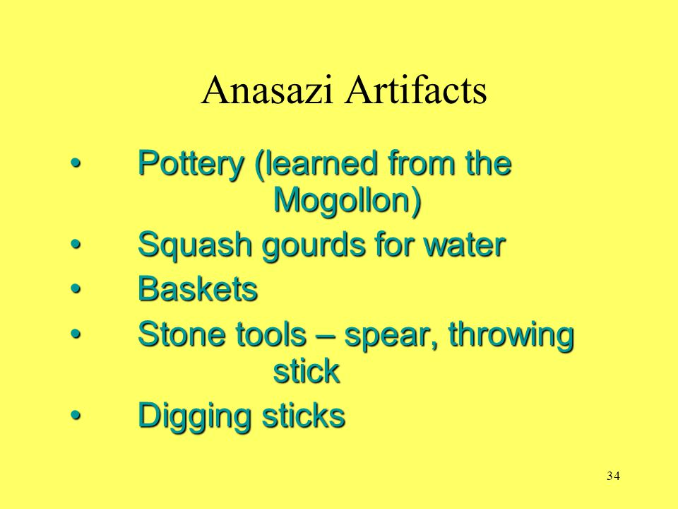 Anasazi Artifacts Pottery (learned from the Mogollon)