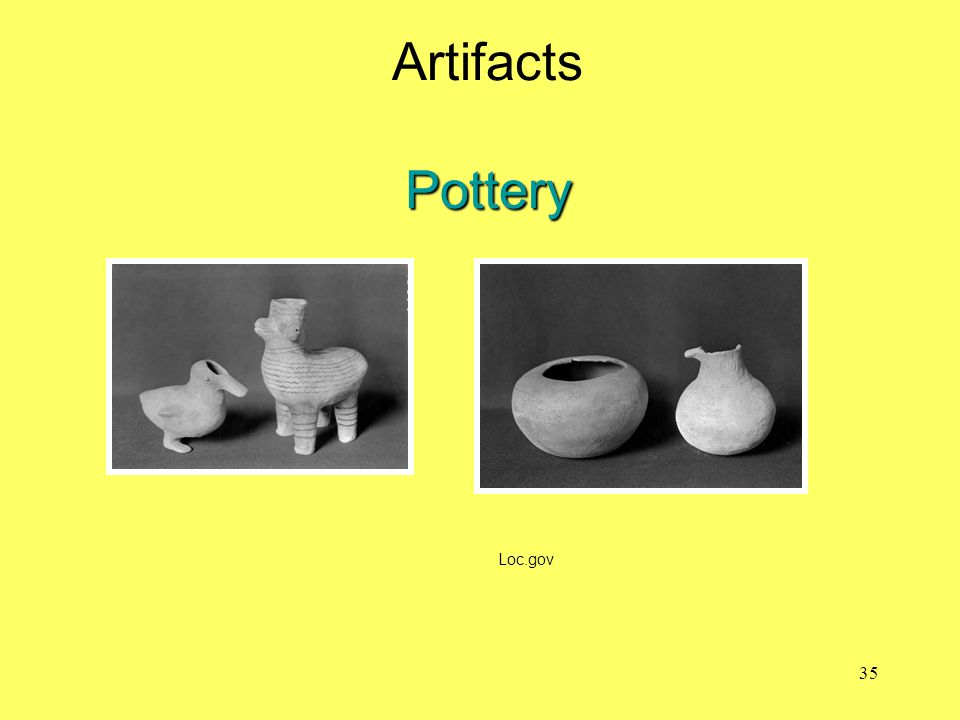 Artifacts Pottery Loc.gov