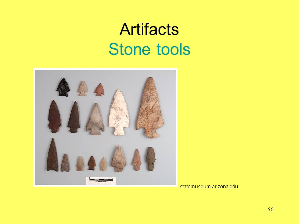 Artifacts Stone tools statemuseum.arizona.edu