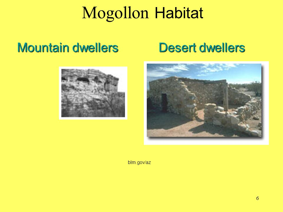 Mountain dwellers Desert dwellers