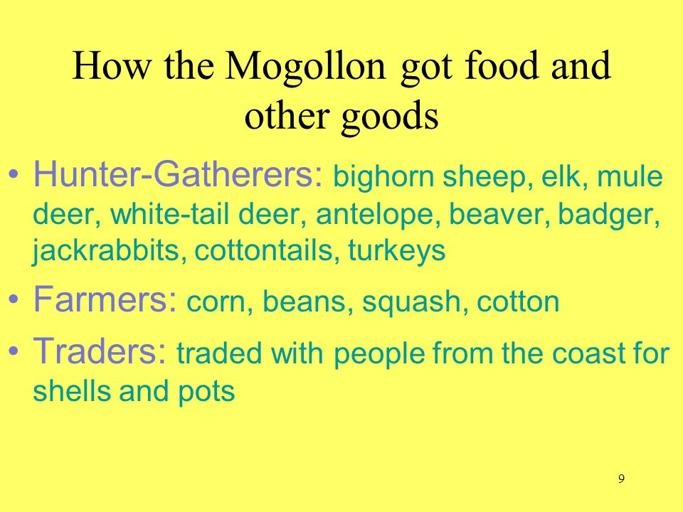How the Mogollon got food and other goods