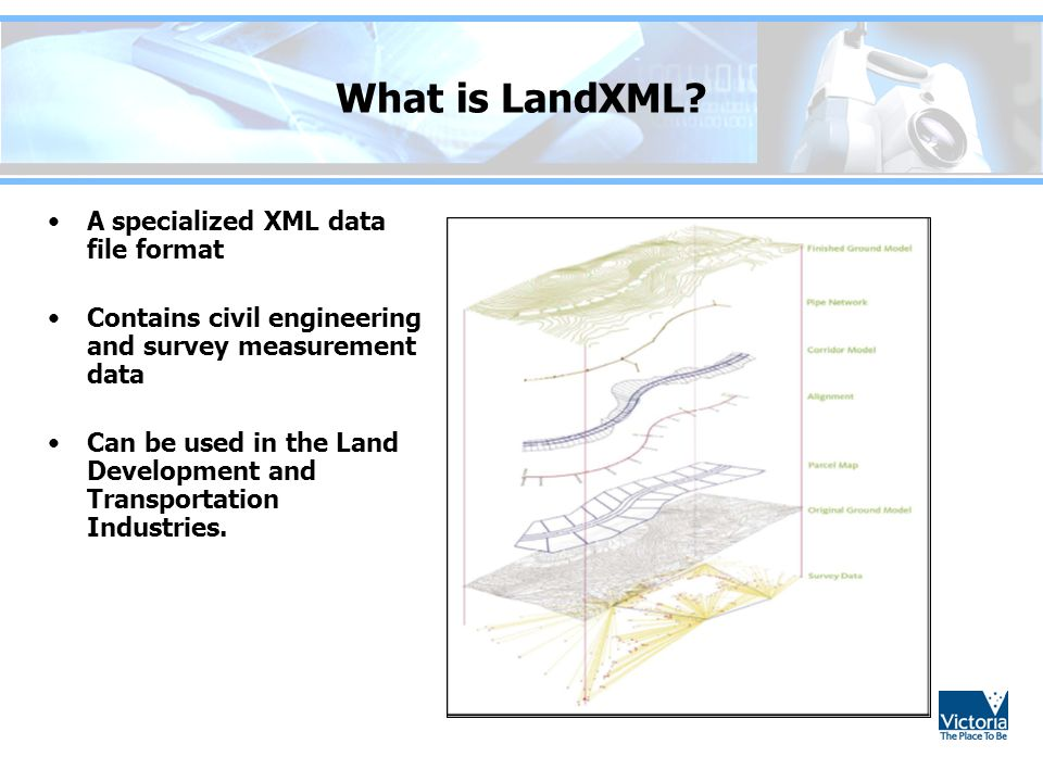 What is LandXML A specialized XML data file format