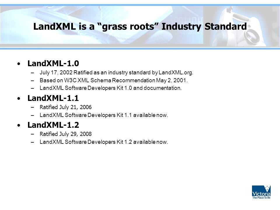 LandXML is a grass roots Industry Standard