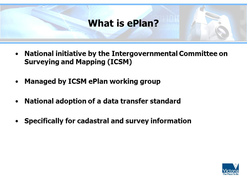 What is ePlan National initiative by the Intergovernmental Committee on Surveying and Mapping (ICSM)