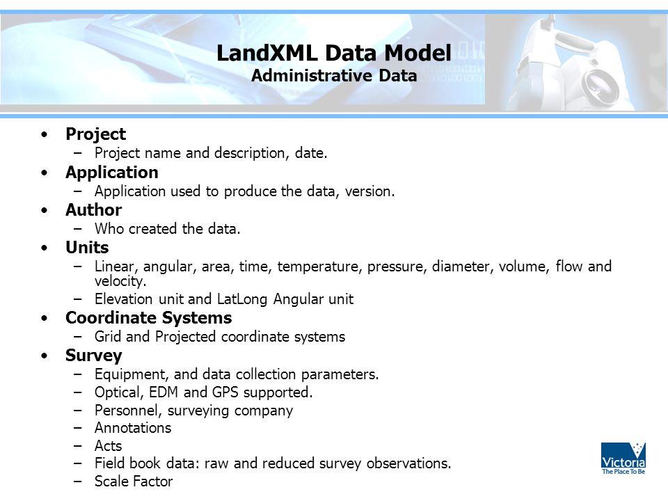 LandXML Data Model Administrative Data