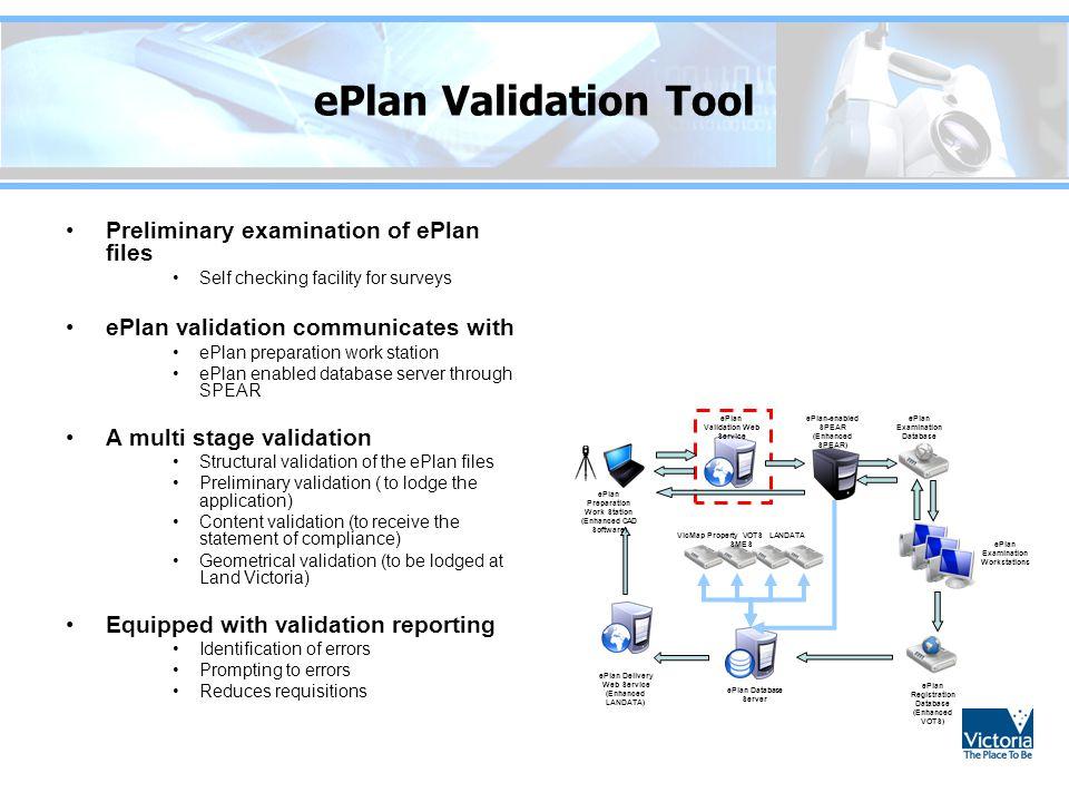 ePlan Validation Tool Preliminary examination of ePlan files