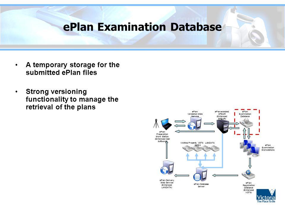 ePlan Examination Database