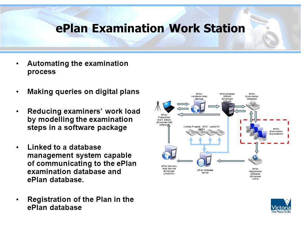 ePlan Examination Work Station